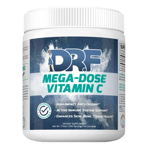 MEGA-DOSE Vitamin C by Dr. Farrah World Renown Medical Doctor | High-Impact Antioxidant | Active Immune System Support | Enhances Skin, Bone, Tissue Health