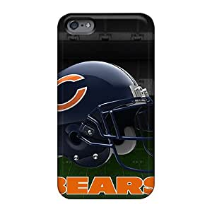 Scratch Resistant Hard Cell-phone Case For Apple Iphone 6s With Unique Design Lifelike Chicago Bears Helmet 2 Skin Casesbest88