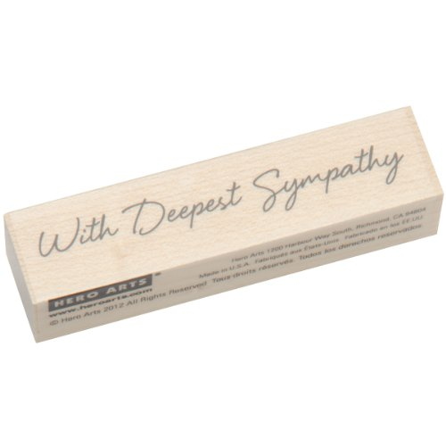 Hero Arts Woodblock Stamp, Little Greetings with Deepest Sympathy -