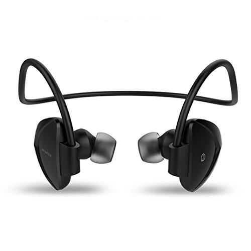 Creazy Wireless Sport Headphone Noise Isolation Bluetooth Earphone Headset with NFC (Black)