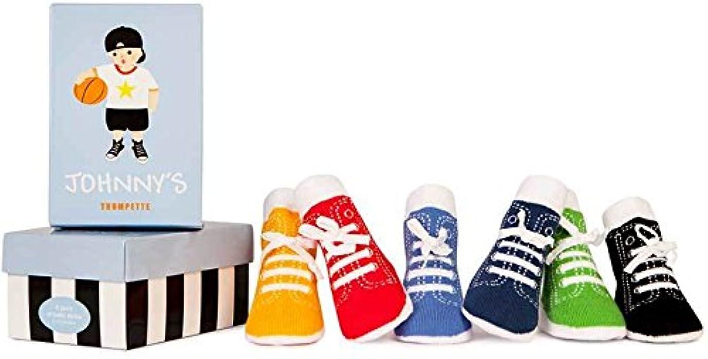 e134787b6af0 Amazon.com  Trumpette Johnny s Sneaker 6 Pair Socks Set