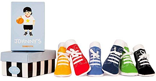 Trumpette Johnny's Sneaker 6 Pair Socks Set, Brights Assoretd, 0-12 Months