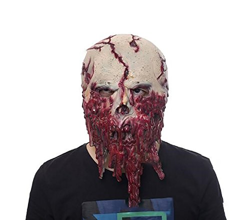Demarkt Latex Bloody Face Halloween Mask Horror Scary Masks Party Mask