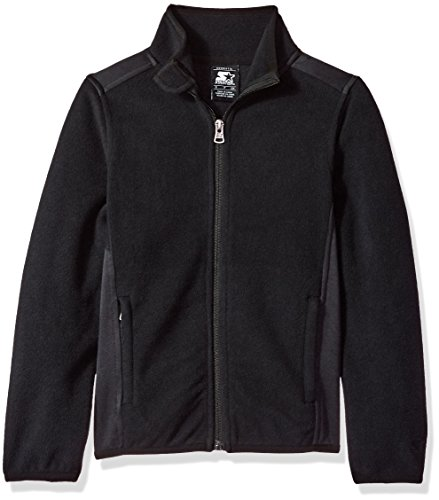 Starter Girls' Polar Fleece Jacket, Prime Exclusive, Black, L (Kids Polar Fleece)
