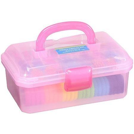 Girls 100 Piece Hair Accessory Treasure Box - Hair Treasure Box