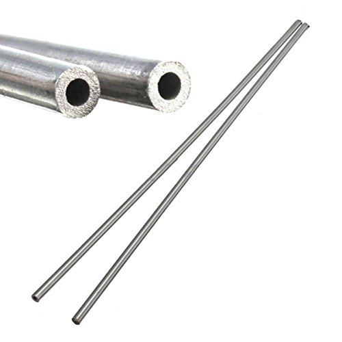 2pcs 304 Stainless Steel Capillary Tube Silver 4mm OD 3mm ID 250mm Length (Tubing 4 Steel Stainless)