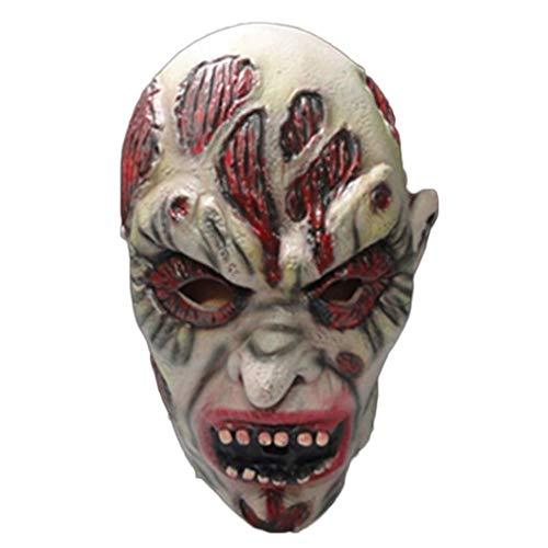 Neoall Festival Party Supplies Halloween Adult Latex Mask Horrifying Mask Carnaval Bar Terror Cosplay Costume White -
