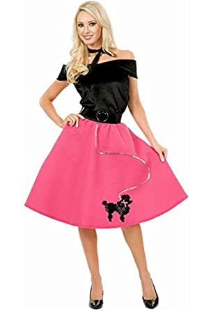 Charades Costumes CH52132P-1X Womens Plus Size Poodle Skirt Costume Size 1X
