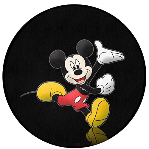 WSXEDC Round Area Rug Mickey and Minnie Mouse Indoor/Outdoor Floor Mat 23.6 Inch Diameter Home - Mickey Round Mouse