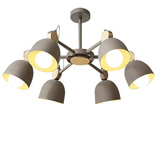 Windsor Home Deco, WH-62441, Simplicity Modern Ceiling Lamp, Ceiling Lights Flush Mount, 6 Lights Ceiling Lamp, Ceiling Lighting, Ceiling Light Fixture, Gray