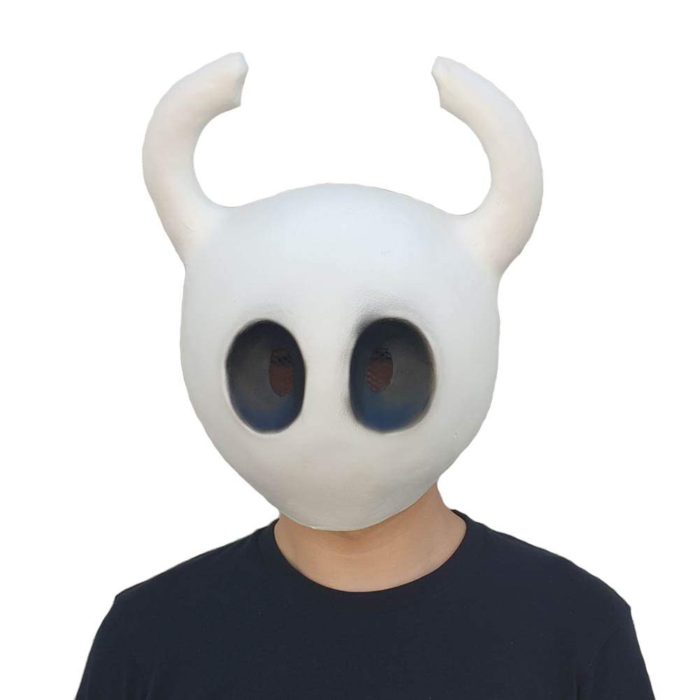 Xmecos Hollow Knight Mask Game Funny Latex Masks Helmet Halloween Party Props