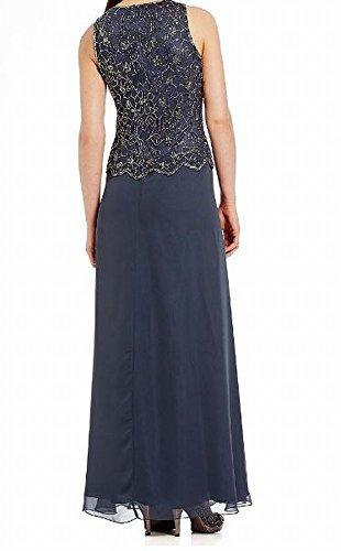 J Kara JKARA Womens Petite Embellished 2PC Shawl Sheath Dress Gray 10P