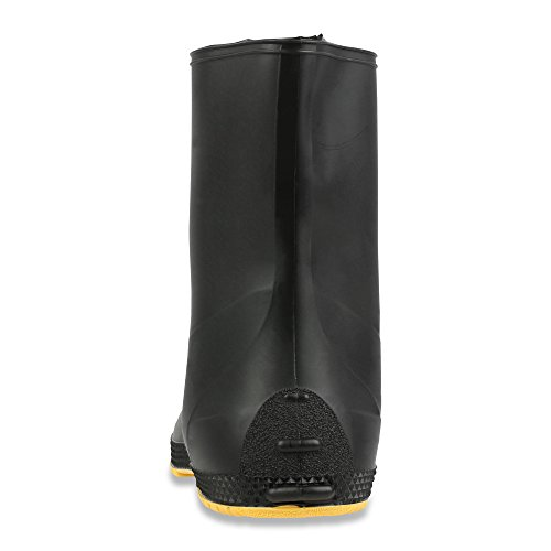 "Servus SuperFit 12"" PVC Dual-Compound Men's Overboots, Black & Yellow (11002B-Boxed) - Image 2"