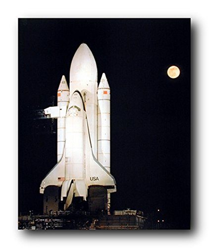 Wall Decor Picture - NASA Space Shuttle Night Moon Astronaut Rocket Educational Art Print Poster (16x20)