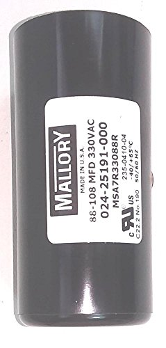 Mallory 024-25191-000 330V motor start capacitor