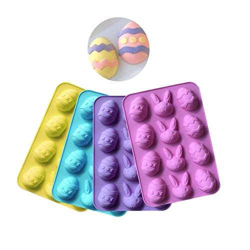 12 Cavities Easter Egg Silicone Chocolate Mold DIY Baking Ca