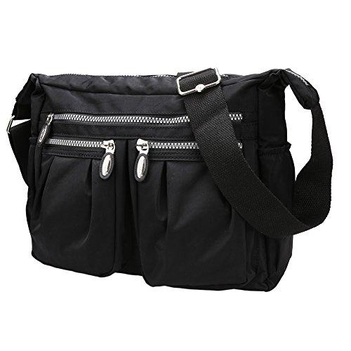 Fantastic Zone Waterproof Multi Pocket Cross Body Bag Casual Handbag Travel Tote Messenger Shoulder Bag