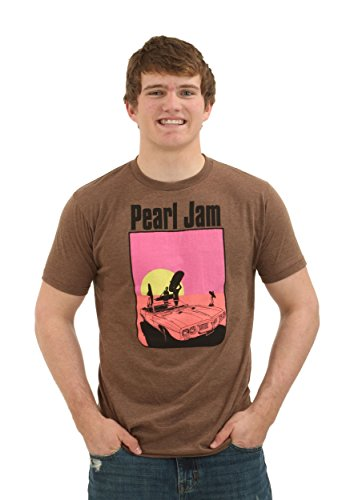 Ames Bros Clothing & Design mens Heather Brown Pearl Jam San Diego T-Shirt Small