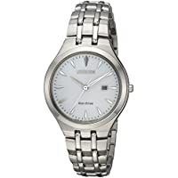 Citizen Women's 'Eco-Drive' Quartz Stainless Steel Casual Watch, Color Silver-Toned (Model: EW2490-55A)