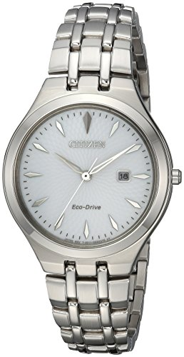 Citizen Women's 'Eco-Drive' Quartz Stainless Steel Casual Watch, Color:Silver-Toned (Model: EW2490-55A)