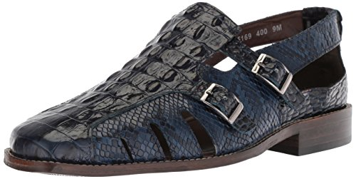 STACY ADAMS Men's Seneca Fisherman Sandal, Blue, 14 M US