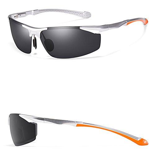 Conductor Gafas sol de Polarizador B para Polarizador Hombres de Cómodo hombre Retro vidrios Conducción Personalizadas Conductores Gafas Moda Iw8tYTq