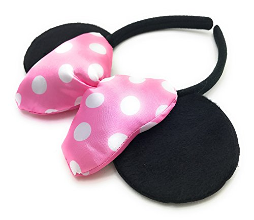 MeeTHan Minnie Mouse Ear Headband: M4 (Dot Bow Pink1) -