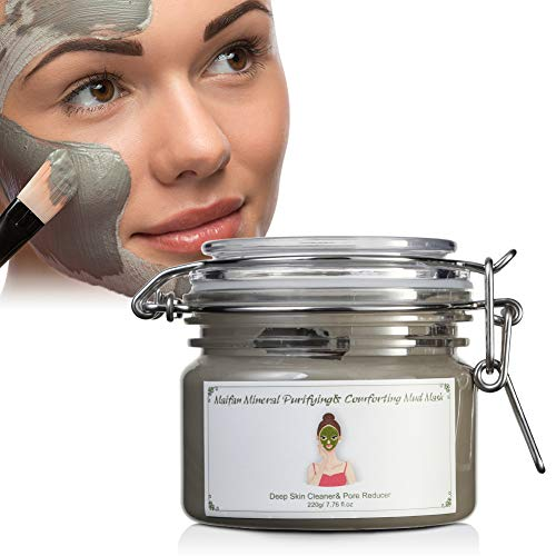XY Fancy XY Fancy Face Mud Cream Mask, Special Maifan Mineral Stone Natural Clay, Oil Control and Pore Clean-7.8 Ounce
