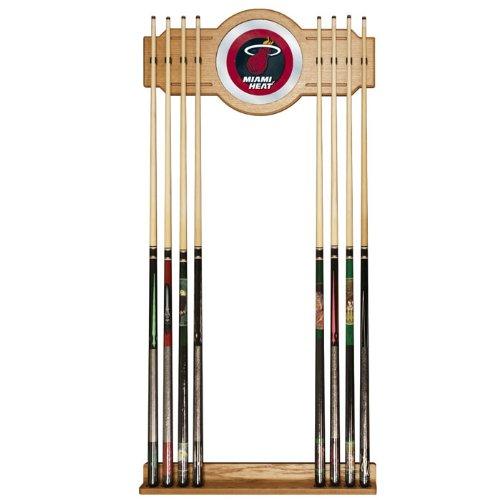 NBA Miami Heat Billiard Cue Rack with Mirror by Trademark Gameroom