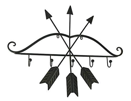 Upper Deck Rustic Brown Metal Bow and Arrows Wall Hook Sculp