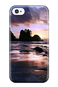 New Fashion Premium Tpu Case Cover For Iphone 4/4s - Beach