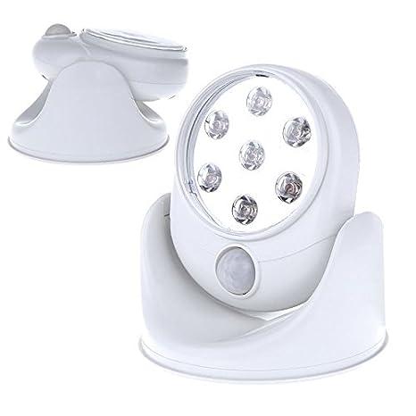 Foco nocturno 7 led luz nocturna sensor detector de movimiento iluminación 360º