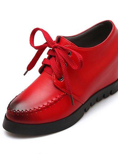 5 Negro Zapatos Plataforma Redonda en Trabajo Exterior Plataforma red de el red us10 PU mujer Oxfords 5 Punta 5 Tira uk8 eu42 cn43 5 cn43 Comfort eu42 5 uk8 us10 eu42 ZQ Oficina us10 y Rojo Tobillo u black q4tUwdU