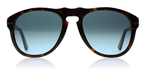 Persol Men's Tortoise Classic Sunglasses, Havana/Crystal Sky Gradient, Brown, Print, One Size