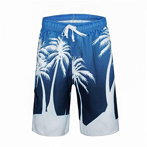 - Clothin Men's Quick Dry Surfing Boardshorts with Pocket(Ocean Blue,US 38)