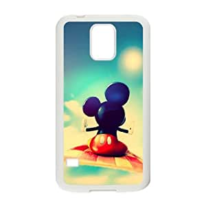 Samsung Galaxy S5 Cell Phone Case White Disney Mickey Mouse Minnie Mouse AFT825288