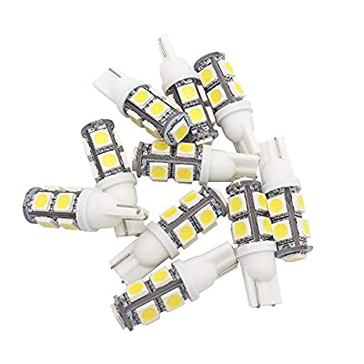 GRV T10 921 194 9-5050 SMD LED Bulb lamp High Bright Cool White DC 12V Pack of 10: Automotive
