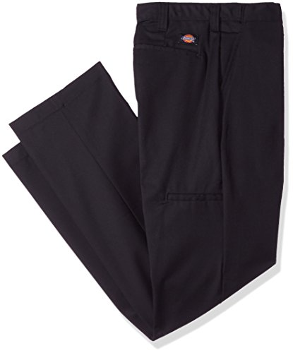 "Dickies Occupational Workwear Lp700bk 36x30 Polyestercotton Relaxed Fit Men's Premium Industrial Flat Front Comfort Waist Pant With Straight Leg, 36"" Waist Size, 30"" Inseam, Black"