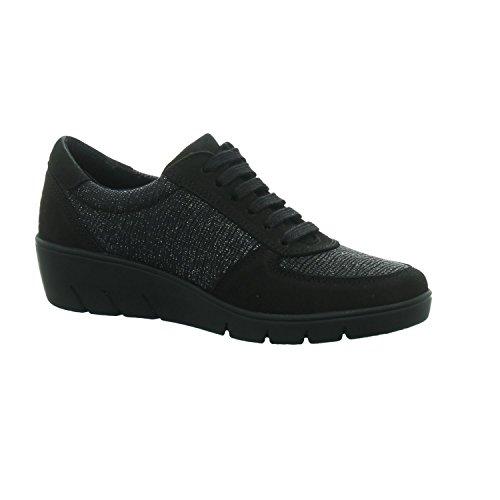 de LONGO Noir pour Ville Femme Chaussures à Lacets Pa1Uwq