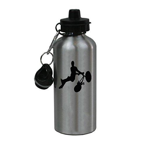 Personalized Custom Bmx Rider Aluminum Silver Finish 20 Ounce Water Bottle ()