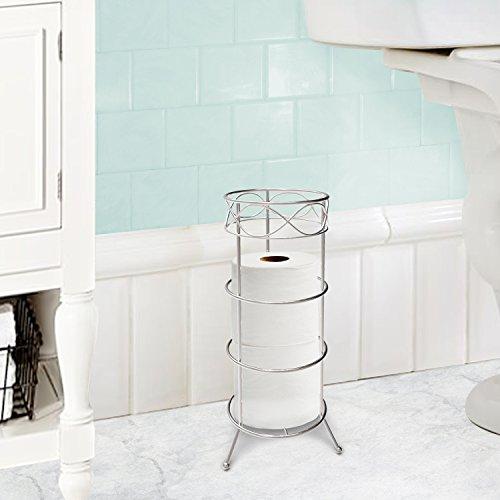 Vanderbilt Home Freestanding Toilet Paper Holder in Silver - Elegant Bath by Vanderbilt Home