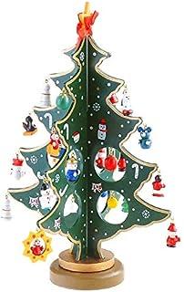 Árbol de Navidad de madera, en miniatura, decoración para mesa de escritorio, de la marca Jingxu: Amazon.es: Hogar