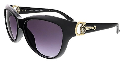 Gucci Women's GG 3711/S Black Shiny Gray - Optyl Gucci