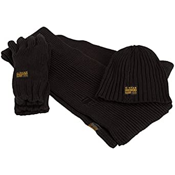 764b695717efa Coffret G-star Echarpe + Bonnet + Gants  Amazon.fr  Vêtements et ...