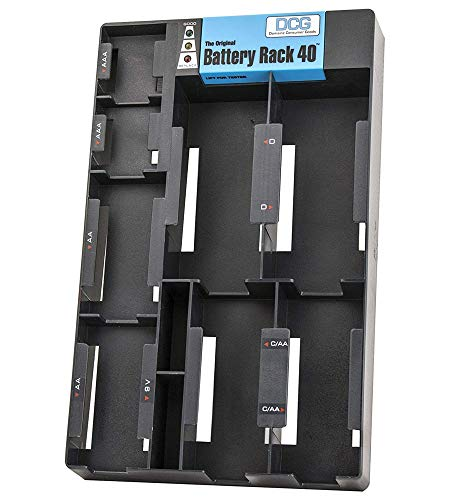 The Original Battery Rack 40 with Built-In Tester ()