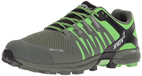 Inov-8 Roclite 305 Trail Running Shoes - Green/Black - Mens - US Men's 11