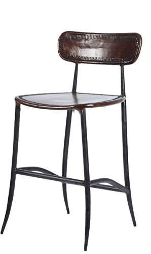 William Sheppee USA Rocket Counter Stool - Hand Forged Iron Bar Stool