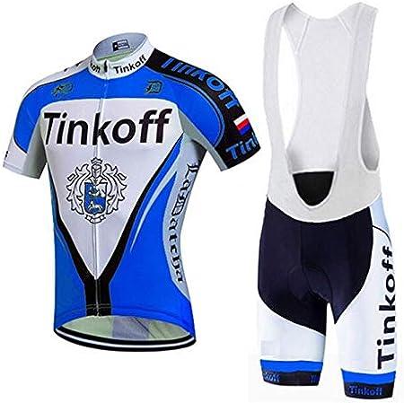 Cuissard Cycliste Homme pour Cyclisme Velo VTT 3D Rembourrage Tenue Ensemble Equipe Pro Homme /Ét/é Respirant Confort INBIKE Maillot