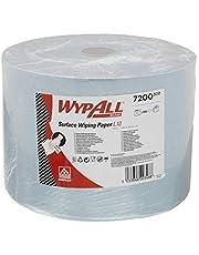 WypAll 7200 Rollo Jumbo de paños de celulosa para limpieza de superficies L10, 1 capa , azul (1 rollo x 1000 hojas)