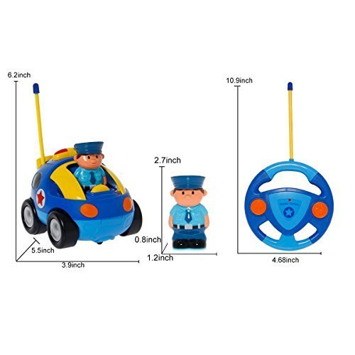 Toch Cartoon RC Race Car Train Toy for Kids Birthday Gift Present, Remote Control with Light Music Radio for Toddlers Baby Kids Child by Toch (Image #6)